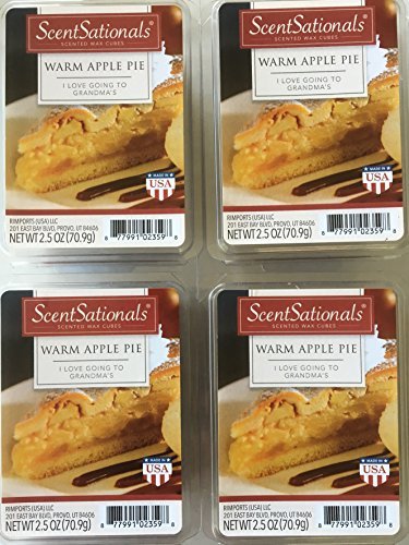 ScentSationals Warm Apple Pie Wax Cubes, 4 Pack
