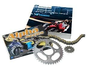 Tsubaki 525180046 - Kit de transmisión para Honda CB500 (modelos 94-03, cadena 525 Alpha XRG 15/40)