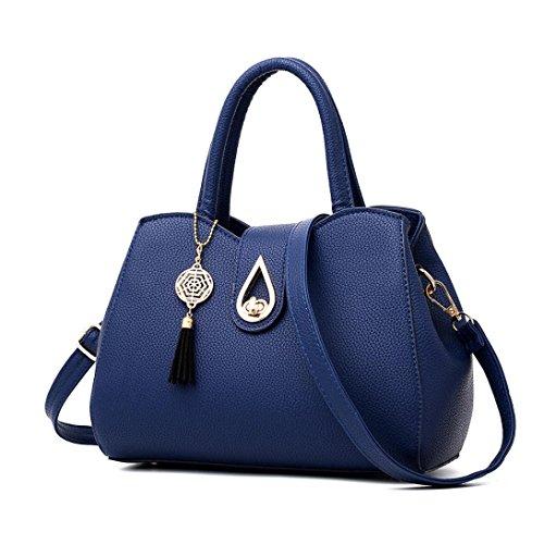 Leather Bag Bags Ladies Casual Clearance Tassels Purse Tote Bag Large Bags Crossbody Bag Sale Zipper Messenger Handbag Halijack Elegant Capacity Women Blue Shoulder qwaxxH6Xp