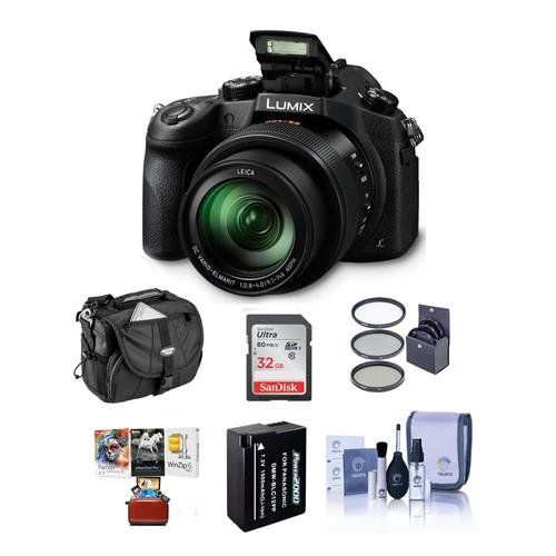 Panasonic Lumix DMC-FZ1000 Digital Camera, Bundle with 32GB