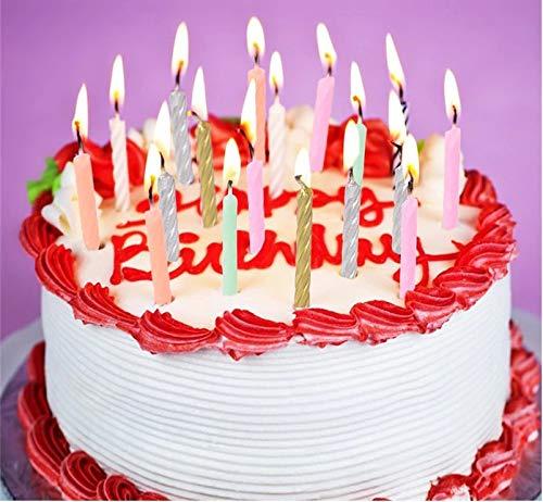 anniversari Decorazioni per Torte 11803 SHATCHI-10 Candele a Spirale Rosa per Compleanni