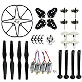 Coolplay Spare Replacement Parts Kit for Syma X8 X8C X8W Main Blades & Landing Skids & Frames & Main Gears & Main Motors RC Quadcopter (Black)