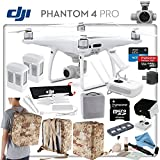 DJI Phantom 4 Pro Explorers II Bundle: Includes High Capacity Intelligent Flight Battery, Spare Battery, Backpack Case Pack - Camo Yellow, Sun Shade, High Speed 32GB MicroSD Card and more...