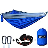 Single / Double Camping Hammock - With 2 x 8' Tree Straps...