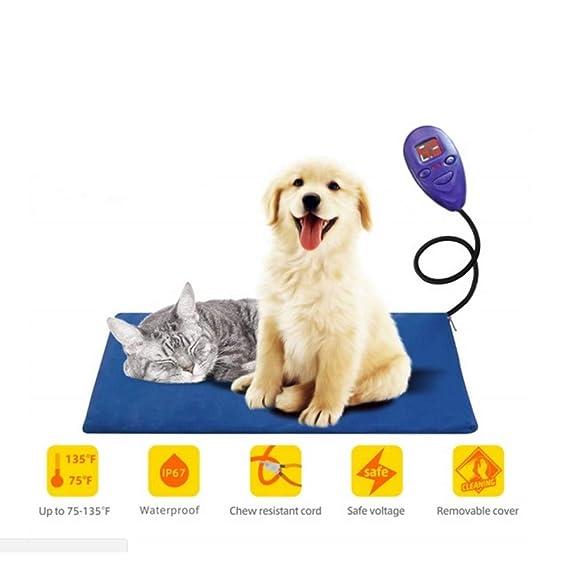 XDYFF Almohadillas de calefacción para Mascotas De Baja tensión de 12 V admiten Rejilla calefacción Regulable Entre 25 ℃ -55 ℃ Acepta calefacción Calentador ...