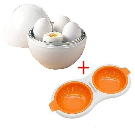 Yuaer Microondas Cocina de Huevos Desayuno rápido Huevo cocido ...