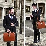 Banuce Full Grain Italian Leather Doctor Bag