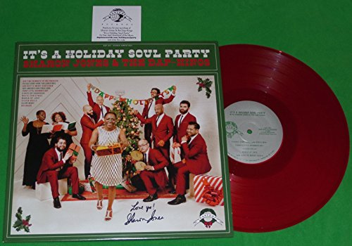 "SHARON JONES SIGNED""LOVE YA!"" THE DAP KINGS IT'S A HOLIDAY SOUL PARTY LP CHRISTMAS ALBUM"
