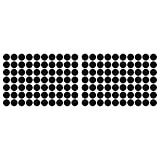 LiteMark 1 inch Black Dot Decal Stickers for Floors and Walls - Pack of 140