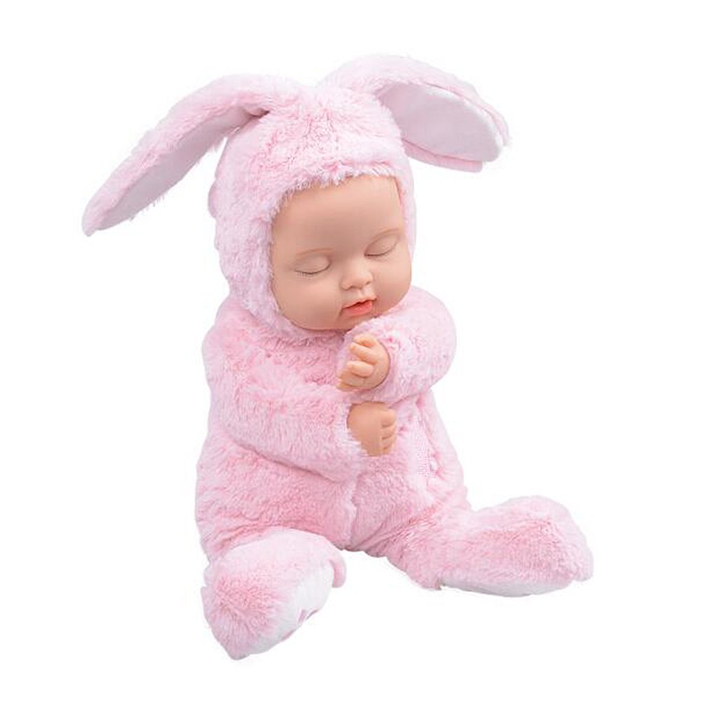 BIEBER Baby Child Gift Lifelike Realistic Reborn Sleeping Baby Doll Premium Soft Plush Toy (Pink) by BIEBER (Image #2)