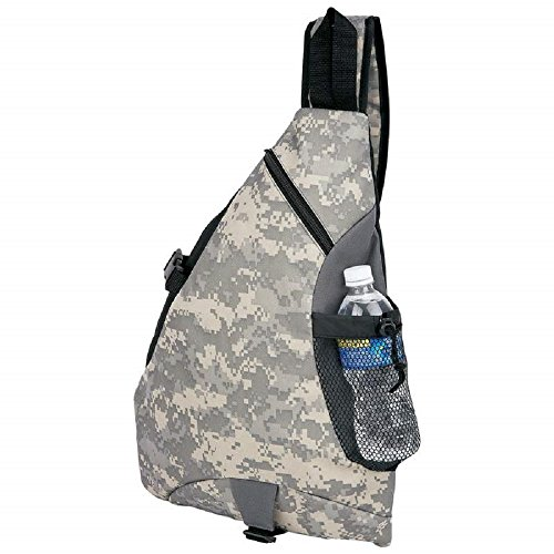 Extreme Pak™ 600d Digital Camouflage Water-Resistant Sling Backpack by BF001