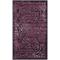 Maples Rugs Kitchen Rug - Pelham 1'8 x 2'10 Non Skid Small Accent Throw Rugs [Made in USA] for Entryway and Bedroom, Wineberry Red