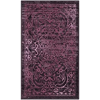 Maples Rugs Pelham Vintage Kitchen Rugs Non Skid Accent Area Mat [Made in USA], 1'8 x 2'10, Wineberry Red