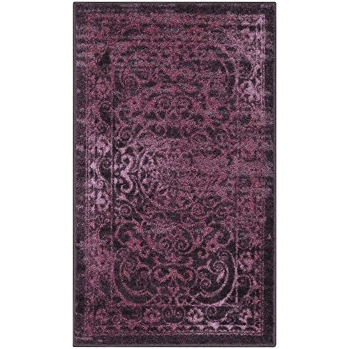 Maples Rugs Kitchen Rug - Pelham 1'8 x 2'10 Non Skid Small Accent Throw Rugs [Made in USA] for Entryway and Bedroom, Wineberry Red (Rugs Scatter Bathroom)