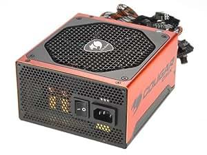 Cougar CMX550W - Fuente de alimentación (550 W, 10 A, protección de sobrecarga), negro y naranja