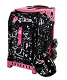 zuca bag with frame - ZUCA Bag Black Sk8 Limited Edition Insert & Pink Frame w/ Flashing Wheels