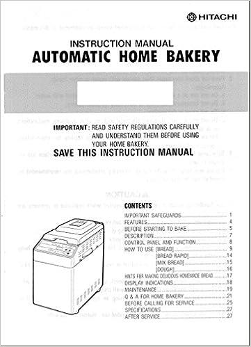 Hitachi bread machine manual recipes model hb b102 plastic hitachi bread machine manual recipes model hb b102 plastic comb bread misc 0750343690795 amazon books fandeluxe Choice Image