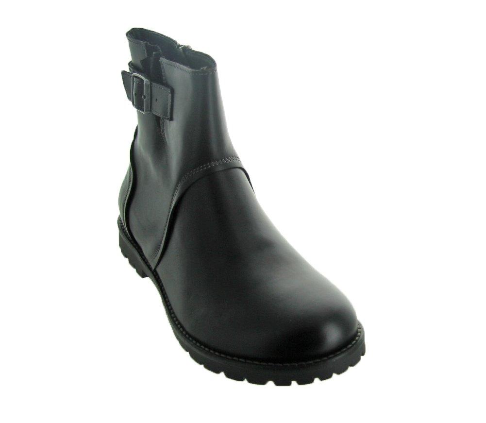 Birkenstock Women's Stowe Boot Black Leather Size 38 M EU