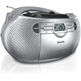 Philips- AZ-1047 - MP3 Cd/Radio/ Cassette Player With AM/FM Radio - CD/CD-R/RW Sound Machine With Stereo Cassette Player