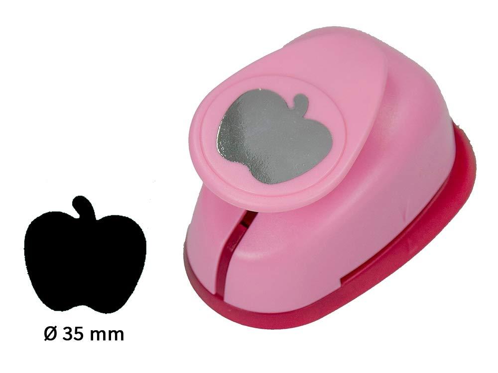 35mm Durchmesser Sescha Motivlocher//Papierstanzer Apfel von EFCO Gr/ö/ße L