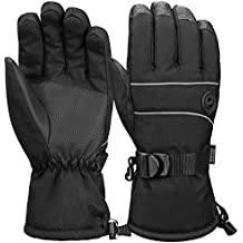 Terra Hiker Water-Resistant Microfiber Winter Ski Gloves 3M Thinsulate Insulation for Men