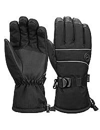 Terra Hiker Waterproof Microfiber Winter Ski Gloves 3M Thinsulate Insulation for Men