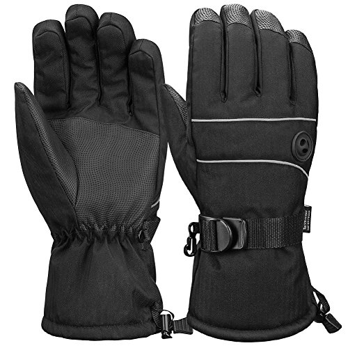 Terra Hiker Waterproof Winter Warm Ski Gloves 3M Thinsulate Snowmobile Cold Weather Gloves for Men, Women, Adult