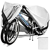 Temork Bike Cover for 2 Bikes, 420D Oxford Heavy Duty Outdoor Waterproof Bicycle Covers UV Dust Sun Wind Proofwith Lock Eyes ProtectionFor One 29'' Mountain Road Bikes
