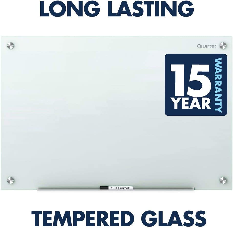 Quartet Glass Whiteboard, Magnetic Dry Erase White Board, 6' x 4', White Surface, Infinity (G7248W) : Office Products