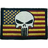 American Flag Punisher Skull Morale Patch By Patch Squad