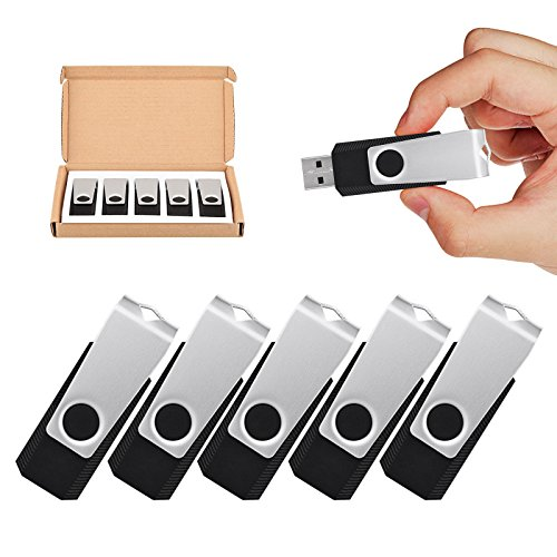 Image of TOPESEL 5 Pack 32GB USB Flash Drives Flash Drive Flash Memory