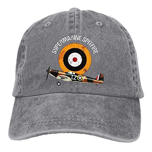 (Supermarine Spitfire RAF Warbird Adjustable Baseball Cap Mesh Hat Trucker Caps)