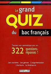 Le grand quiz du bac français