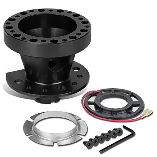 eel 6-Hole Hub Adaptor Kit (Black) For Civic/CRX / Integra ()