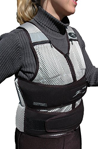 Ironwear Cool Vest (long) soft Flex-Metal@ weights, Breathable 1 to 30 Lb. Weighted Vest Made in USA by Ironwear