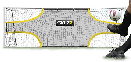 SKLZ Goalshot - Soccer Goal Target Net Creates Visual Focus for Scoring and Finishing. Fits 24-Foot by 8-Foot Official Game Size Goal (Best Soccer Goals Of All Time)