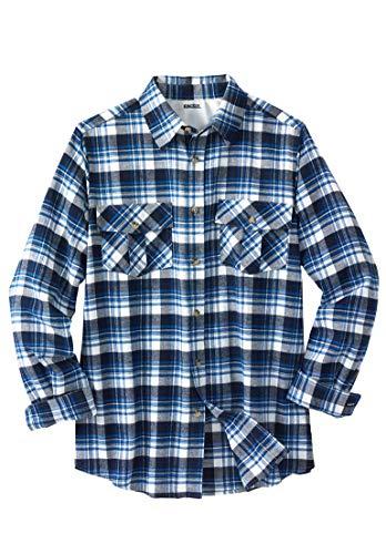 KingSize Men's Big & Tall Long-Sleeve Plaid Flannel Shirt, N