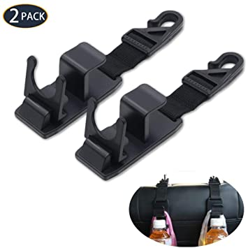 Gyges - Juego de ganchos para reposacabezas de coche, para asiento trasero, ideal para