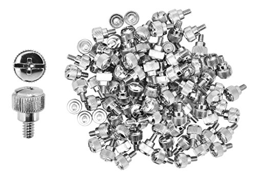 Mudra Crafts Desktop PC Computer Building Case Motherboard Fan Hard Drive Repair Mounting Thumb Screw Washer Assortment Kit (Silver Chrome Thumbscrews 6-32 X 5 100 PCs) by Mudra Crafts (Image #3)