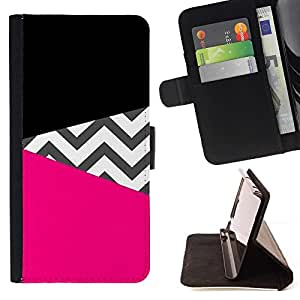 Momo Phone Case / Flip Funda de Cuero Case Cover - Modelo negro del rosa de diseño de moda - Samsung Galaxy J1 J100