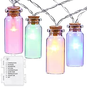 Amazon.com : Glass Jar String Lights, Oak Leaf 9.8 feet 30 LEDs IP44 Waterproof 8 Modes Outdoor ...