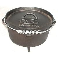 Seasoned Dutch Oven silber klein Gusseisen Firepot Camping Garten Picknick ✔ rund
