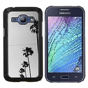 Eason Shop / Premium SLIM PC / Aliminium Casa Carcasa Funda Case Bandera Cover - Los árboles Fila Sky View Road la calle - For Samsung Galaxy J1 J100