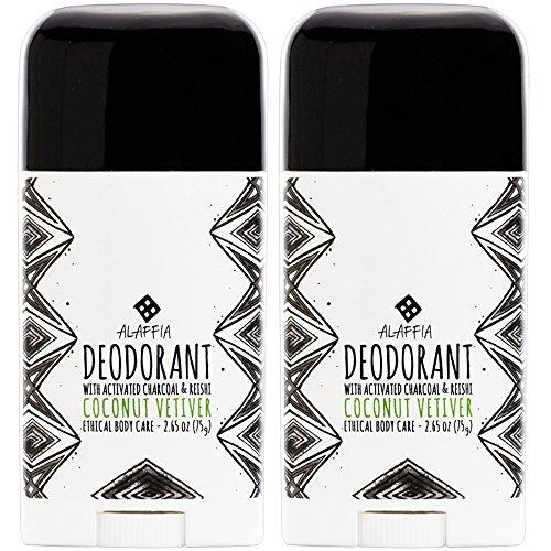 Alaffia - Coconut Reishi Activated Charcoal Deodorant, Odor