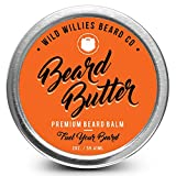 Beard Balm Conditioner For Men - Wild Willie's Beard Butter - Amazing Beard Balm with 13 Natural Locally Sourced Ingredients to Condition and Treat Your Beard or Mustache At the Same Time.