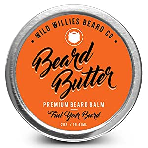 Beard Balm Conditioner For Men - Wild Willie's Beard Butter - Amazing Beard Balm with 13 Natural Locally Sourced Ingredients to Condition and Treat Your Beard or Mustache At the Same Time. Huge 2oz