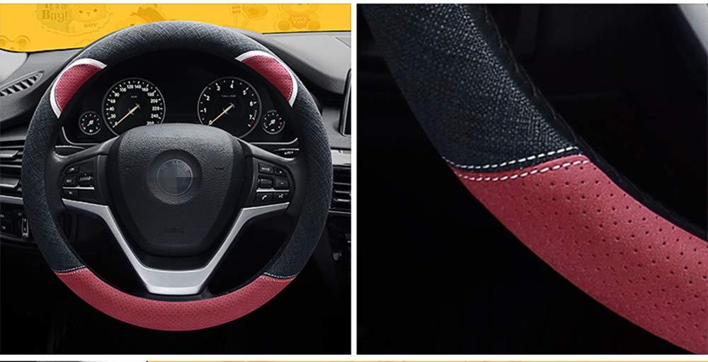 15 HONCENMAX Donne Veicolo Coprivolante Auto Protezione del Volante Fashion Universale per Auto//Camion//SUV Diametro 38 cm