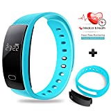 Fitness & Activity Tracker, Besteker Smart Bracelet Fitness Tracker Sport Wristband Bluetooth IP 67 Waterproof Touch Screen Smart Band for iPhone Android Smartphone - Blue