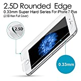 iPhone 7 Plus Premium Tempered Glass Screen Protector (1 Pack) 3D Touch Super Hard 0.33mm By Magpire 2.5d-Extreme Hard Series [iPhone 7 Plus (2.5D Non Full Cover)]