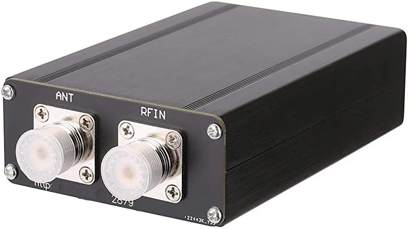 Afinador de antena mini ATU-100 de 1,8 a 55 MHz con carcasa de N7DDC 7 x 7 Tool Metal Shortwave Antenna Tuner